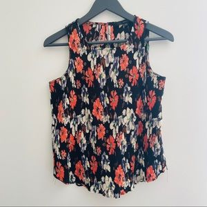 Fun 2 Fun | Dark Floral Sleeveless Blouse